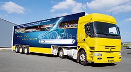 Impression sur camion