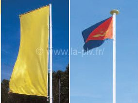 Mât Alizé tête fixe, tête tournante mât drapeaux potence sans potence ?