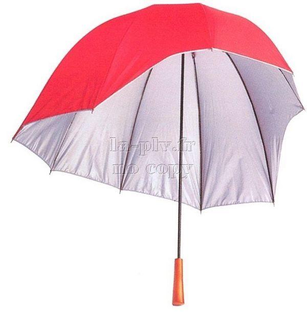 Parapluie publicitaire : coiffe asymétrique