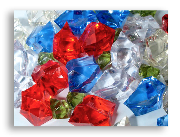 plv plexi - morceaux de couleurs