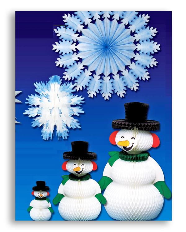 Papier PLV bonshommes de neige