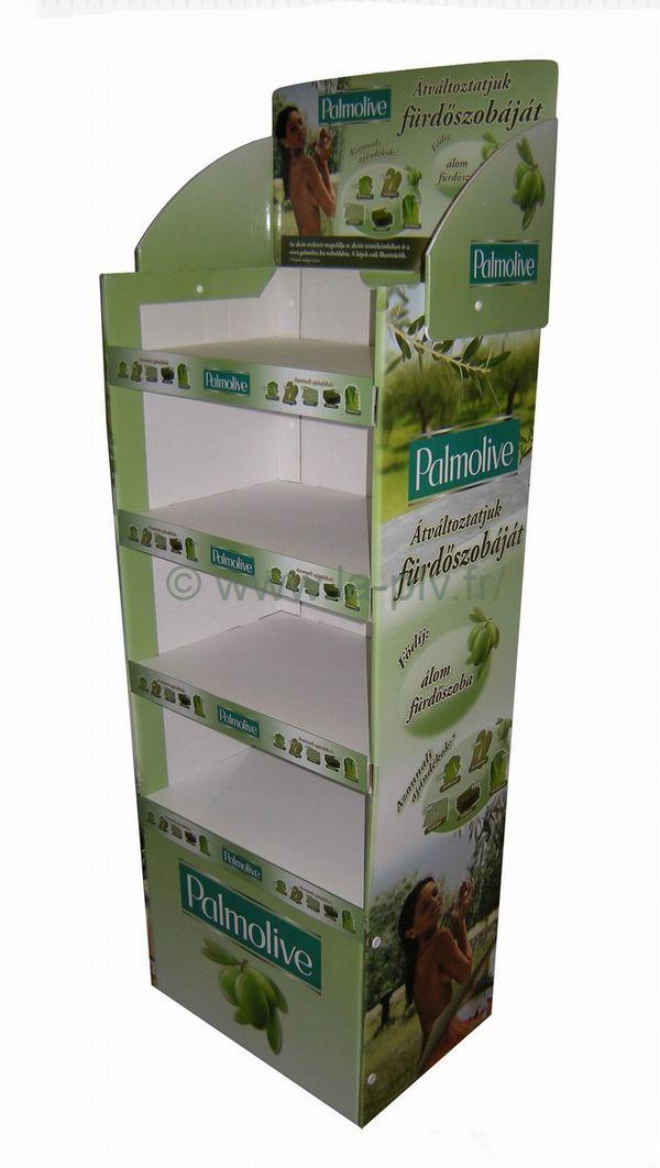 Palette carton box publicitaire