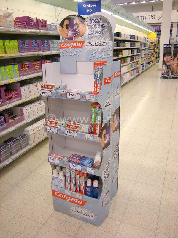 Présentoir plv produit e sol en carton pour PLV
