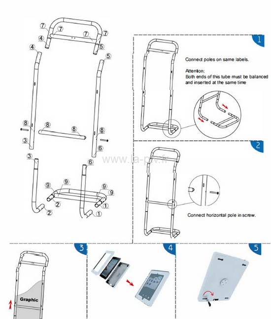 rack-ipad-1 plv dynamique