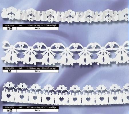 déco papier - décoration thème le mariage : guirlandes