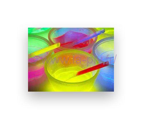 articles lumineux - verres de couleur
