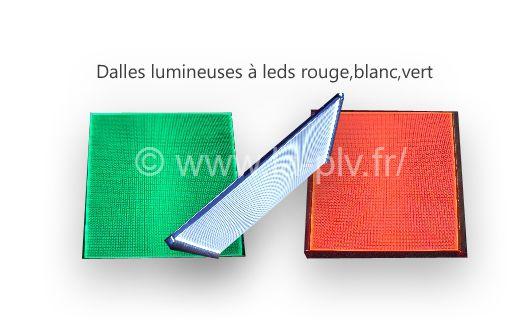 dalle lumineuse : dalles de couleurs différentes