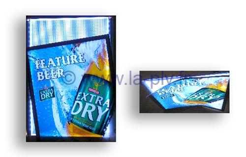 Cadres lumineux à leds publicitaire & signlétique