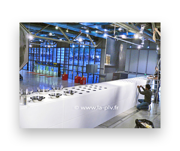 stand pour salon : préparation d'un buffet sur mesure