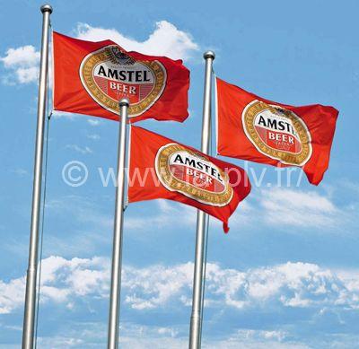 drapeau : pavillons publicitaires sur mât avec drisse