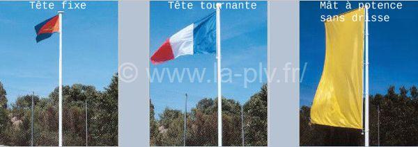 mât drapeau - les différents modèles de la gamme