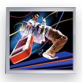 image lenticulaire - effet sport