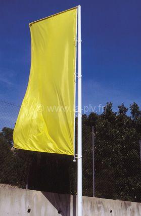 mât drapeau : gamme Alizé avec potence et bannière sans drisse
