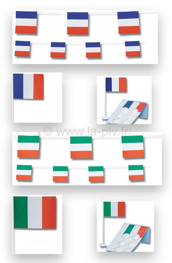 décoration publicitaire : thème drapeaux des nations