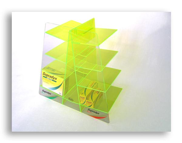 plv plexi - présentoir de comptoir en acrylique