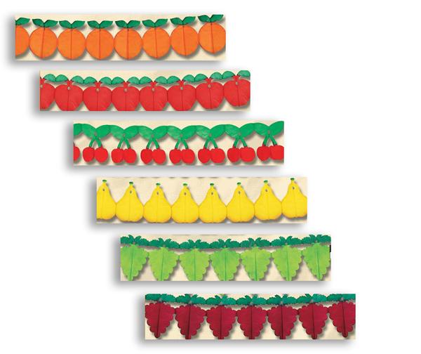 décoration publicitaire - thème guirlandes de fruits