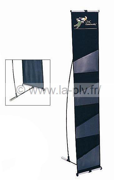 Porte brochure en tissu avec pochettes transparentes