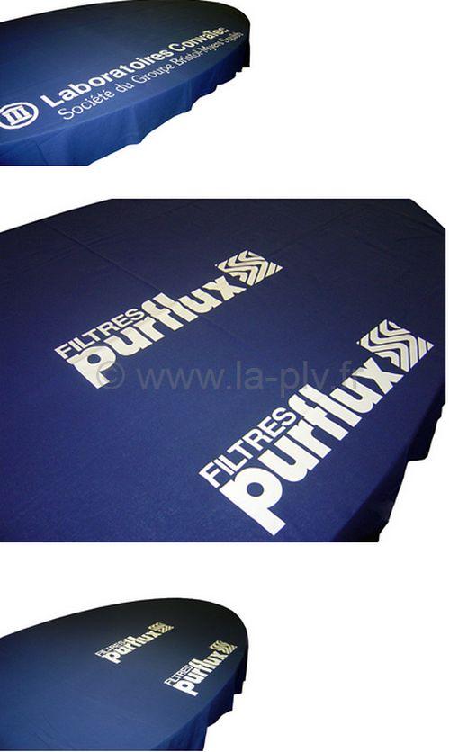vêtement publicitaire - nappe de table personnallisée