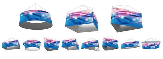 bannière - modèle suspendu rotatif avec les différente formes