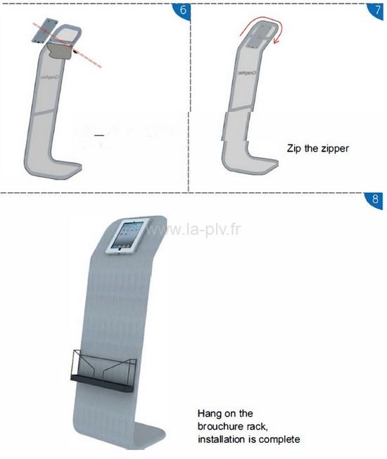 rack ipad - schéma de montage du rack