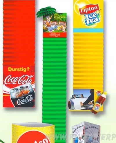 banderole publicitaire - modèle en accordéon