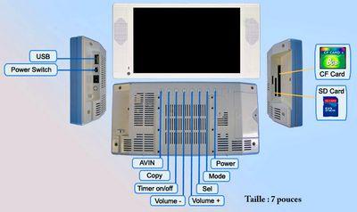 marketing - écran Lcd 7 pouces