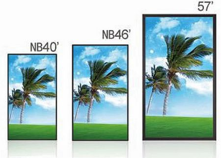 ecran Lcd avec lecteur mémoire intégré- grandes tailles - 40 - 46 - 57 pouces