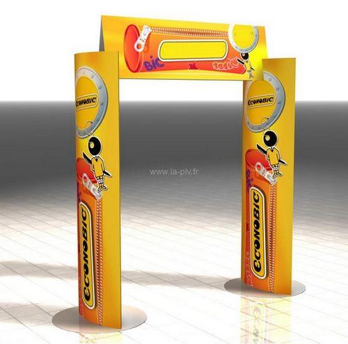 arche en carton - modèle elliptique à deux colonnes et un fronton
