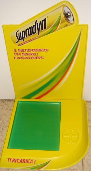 Présentoir plastique - présentoir de comptoir avec fronton