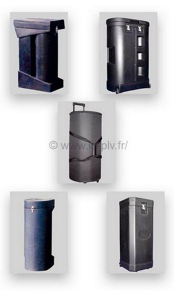 stand parapluie - valises de transport
